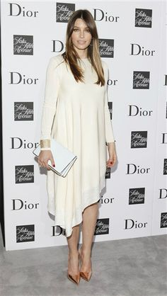 Jessica Biel attends a party to celebrate Dior's fall/winter 2013-2014 Collection at Saks Fifth Avenue in New York on Sept. 6, 2013.