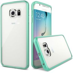 Galaxy S6 Edge Case, Verus [Clear Drop Protection] Samsung Galaxy S6 Edge Case [Crystal Mixx][Mint] Premium Slim Fit Dual Layer Transparent Hard Case - Verizon, AT&T, Sprint, T-Mobile, International, and Unlocked - Case for Samsung Galaxy S6 S Early 2015 Model