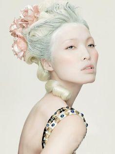 Fairytale fashion fantasy / karen cox.  ♔ ...editorial fashion photo. Marie Antoinette inspired.