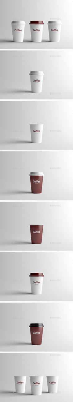 Paper Coffee Cup Packaging MockUp  Small — Photoshop PSD #clean #mock-up • Available here → https://graphicriver.net/item/paper-coffee-cup-packaging-mockup-small/16614584?ref=pxcr