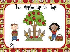 Kindergarten At Heart: Ten Apples Up On Top and Freebie!