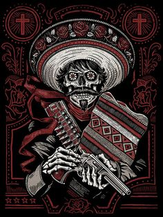 Loco Bandito Silk Screen Art Print by strawcastle on Etsy, $14.99