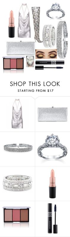 """""""New Years dance party"""" by jdicesare on Polyvore featuring Jimmy Choo, Bling Jewelry, Sole Society, MAC Cosmetics and Christian Dior"""