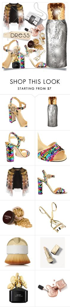"""On Trend: A Two-Tone Dress ~ Gold & Silver"" by lucky-ruby ❤ liked on Polyvore featuring Dolce&Gabbana, Jaded, Artis, Burberry, Marc Jacobs, Sequin, goldandsilver and twotonedress"