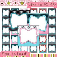 Editable Retro Digital Collage Sheets Scrabble by MakntheRounds, $3.00