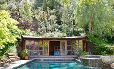 "'Charlie's Angels' Actress Lucy Liu Is Selling Her Los Angeles Zen Craftsman House You know her from the ""Charlie's Angels"" movies and the TV show ""Elementary."" Actress Lucy Liu has listed her. Modern Craftsman, Craftsman Style Homes, Modern Farmhouse, Outdoor Living Rooms, Outdoor Spaces, Indoor Outdoor, Outdoor Ideas, Living Spaces, Modern Mansion"