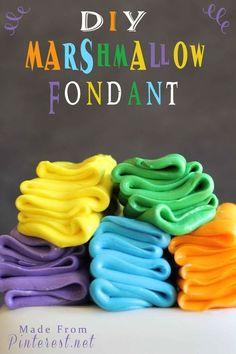 DIY Marshmallow Fondant.