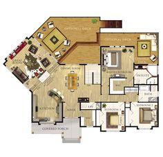 Plan de Cedar Glen Je étage