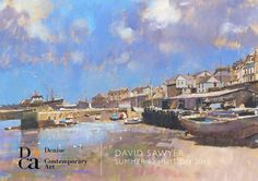 Newlyn Harbour - a contemporary art, Oil Paintings by David Sawyer Landscape Paintings, Oil Paintings, Landscapes, Contemporary Art, David, Gallery, Illustration, Artists, Book