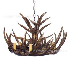 Ah tree resin lamp chandelier in the lobby of the new classical models of atmospheric magnificent antlers chandelier