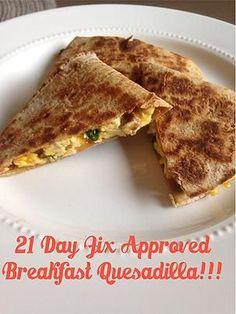 effyoumomjeans | 21 Day Fix Approved Super Easy Breakfast Quesadilla Recipe!