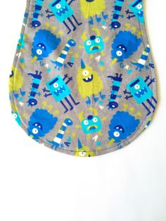 Monster Burp Cloth, Baby Boy Burp Cloth, Monster Burp Pad, Baby Boy Burp Pad by SewAuntieSew on Etsy Baby Comforter, Burp Cloths, Fabric Design, Baby Shower Gifts, Delicate, Baby Boy, Kids Rugs, Pattern, How To Make