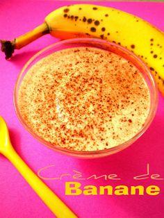 Pourquoi se priver quand c'est bon et léger?: Crème de banane (1 point ww) Weightwatchers Desserts, Fun Desserts, Delicious Desserts, Creme, Healthy Life, Nom Nom, Deserts, Clean Eating, Point