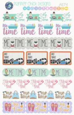 AE74 Me Time Stickers by PlannerChickDesigns on Etsy