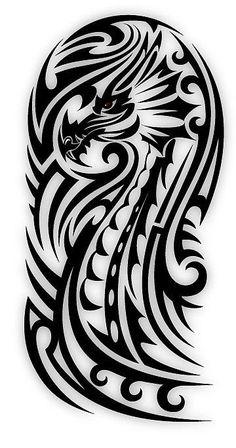 Biceps Tribal Dragon by sbink . - - Biceps Tribal Dragon by sbink … – - Polynesian Tattoo Designs, Maori Tattoo Designs, Dragon Tattoo Designs, Tattoo Design Drawings, Tattoo Sleeve Designs, Tribal Dragon Tattoos, Celtic Dragon Tattoos, Tribal Sleeve Tattoos, Stammestattoo Designs