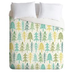 Heather Dutton Oh Christmas Tree Frost Duvet Cover   DENY Designs Home…