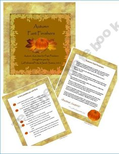 Autumn Fast Finishers for your Spanish Classroom! product from La-Profesora-Frida on TeachersNotebook.com