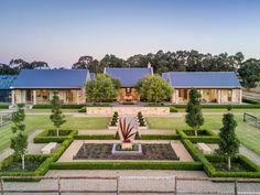 Sold 36 Riverview Road, Woodside SA 5244 on 04 Apr 2019 - 2013555509 Acreage Landscaping, Modern Barn House, Timber Door, Modern Farmhouse Exterior, Farmhouse Plans, Australian Homes, Maine House, Exterior Design, Future House