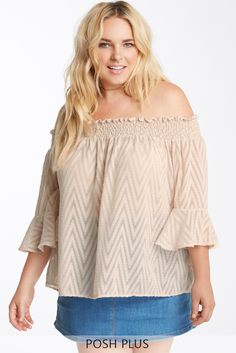 Make room in your closet for the in Morocco off the shoulder top. It features an elasticized neckline and is worn off the shoulder. Textured fabric meets boho inspired fluttered arm hemlines. This top is unlined