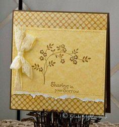 Yellow sympathy card