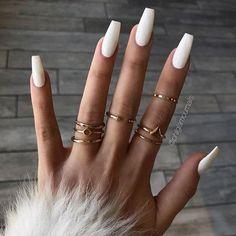 By Trend Trendy Nails M. By Trend Trendy Nails M.,Nails By Trend Trendy Nails Makeup Beauty Party Style nails art nails acrylic nails nails Coffin Nails Matte, White Acrylic Nails, Summer Acrylic Nails, Best Acrylic Nails, Summer Nails, Matte White Nails, Long White Nails, Gold Nail, Winter Nails
