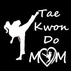 Taekwondo Mom Decal - 7x7 - Free Shipping