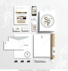 branding suite, brand identity, brand design, collateral design, business branding, Event Venue Brand Identity and Website – Sycamore Farms -  Design by Doodle Dog Creative, website and branding professionals.