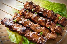 Filipino pork barbecue on skewer, with sweet flavour in the pork.
