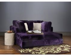 Purple movie couch!