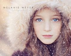 I think this a great setup for a business card. The focus on the girl's eyes is beautiful and the edit on the photo makes the image sharp and HD like. Also the font goes nicely with the background and the color of the font isn't very bold but is easy to read. Via Melanie Weyer Photography.