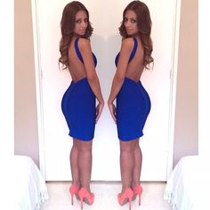 Bandage Dress #royal #blue #backless #nyedress