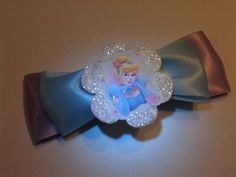 Baby Blue and Lavender Cinderella Shimmery Embellished Hair Bow | Jenstardesigns - Accessories on ArtFire