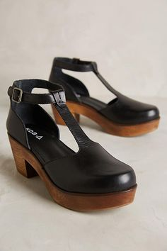 Kelsi Dagger Brooklyn Casablanca Clogs | Anthropologie Sock Shoes, 90s Shoes, Clogs Shoes, T Bar Shoes, Weird Shoes, Crazy Shoes, Cute Shoes, Shoes Sandals, Me Too Shoes