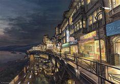 Konachan.com - 153751 building city k_kanehira night original scenic.jpg (1200×849)
