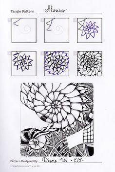 Alaura by Diane Tai, CZT, zentangle