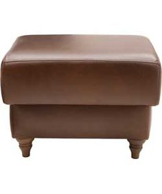 Heart Of House Argyll Leather Footstool Tan With Images
