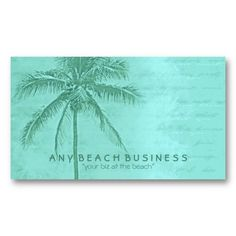 Glamorous gold tropical palm trees on white business card business got a beach business renting a beach house try tropical palm tree aqua green colourmoves