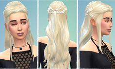 Birksches sims blog: Version Daenerys Hair - Sims 4 Hairs - http://sims4hairs.com/birksches-sims-blog-version-daenerys-hair/