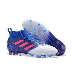 huge discount a947c f58c2 2017 Adidas ACE 17.1 FG ACC Botas de fútbol Blanco Azul Rosa Sala