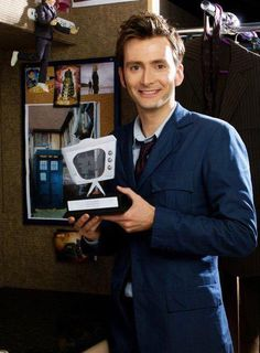PHOTO OF THE DAY - 5th October 2016:   David Tennant with his TV Times Award (2007)