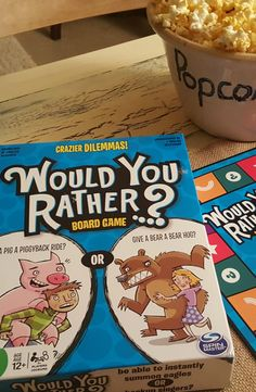 Would You Rather- a family board game perfect to play with teens or as an ice breaker at a group event. The often crazy, sometimes gross prompts lead to discussion & laughter. #WouldYouRather #ad