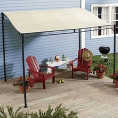 Gazebos & Canopies - Bye-bye harsh sun—sunshade Awning Gazebo instantly creates a covered patio area against your home or garage. Come Home to Comfortable Living Through the Country Door!