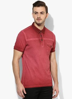 dcfe7a4c Buy United Colors of Benetton Red Printed Regular Fit Polo T-Shirt Online -  5754851 - Jabong