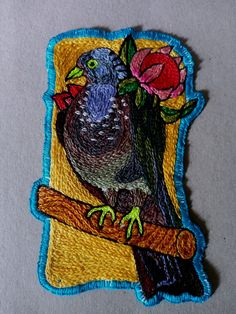 Find me on Instagram @marnaschoemanpronk or email me grootpronk@gmail.com Embroidery Patches, Pigeon, Originals, African, Painting, Instagram, Art, Art Background, Painting Art