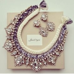 Statement necklace and Statement earrings