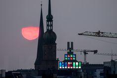 Terrassenblick vor gut 20 Minuten - wer hätte gedacht, dass sie sich nochmal blicken lässt?  #Sonne #Dortmund #Reinoldikirche #DortmunderU