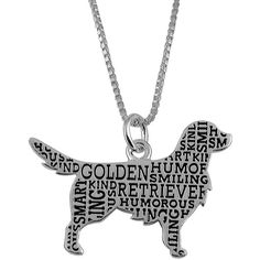 Jewel Exclusive Sterling Silver Golden Retriever Companion Pendant ($20) ❤ liked on Polyvore featuring jewelry, pendants, multi, golden jewelry, heart pendant, heart-shaped jewelry, golden heart pendant and sterling silver jewellery
