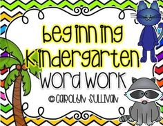 Beginning of the Year Word Work for Kindergarten : Buzz Into Kinder on TPT