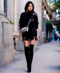 How to wear thigh high boots in a classy way