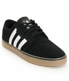 Adidas Seeley Black & Gum Suede Skate Shoe at Zumiez : PDP